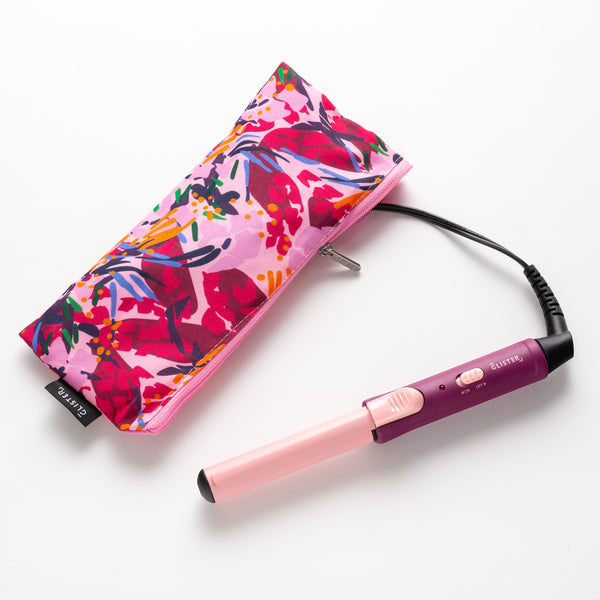 """Mini Curls"" Travel Clip Curler with Carrying Pouch - Apricot Plum"