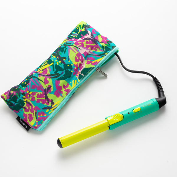 """Mini Curls"" Travel Clip Curler with Carrying Pouch - Lemonade"