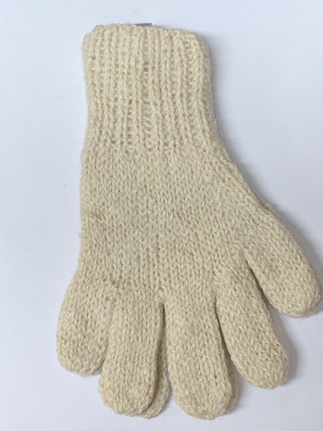 Alpaca Gloves HandSpun - HandKnitted - UNDYED Natural Alpaca Colors
