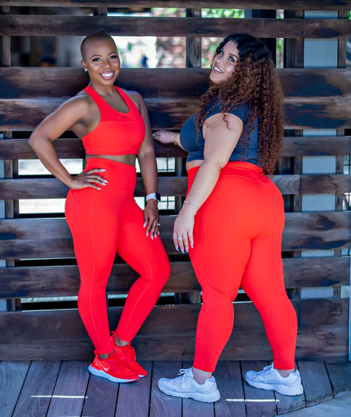 GEORGIA PEACH PLUS SIZE LEGGING
