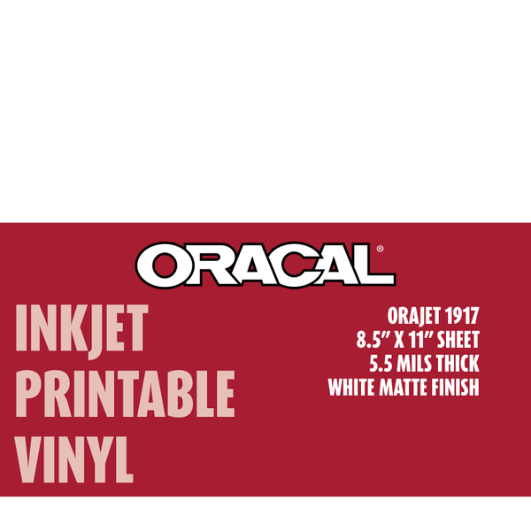Oracal 1917 Inkjet Printable Permanent Adhesive Vinyl 10-Pack