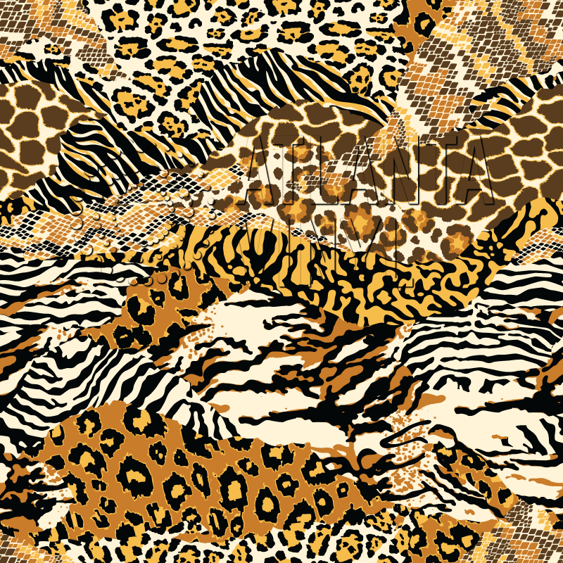 Safari - Animal Skins Patchwork Patterned HTV