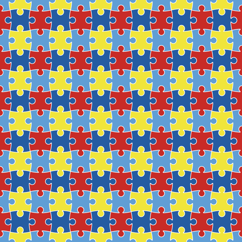 Autism Awareness Puzzle Patterned HTV