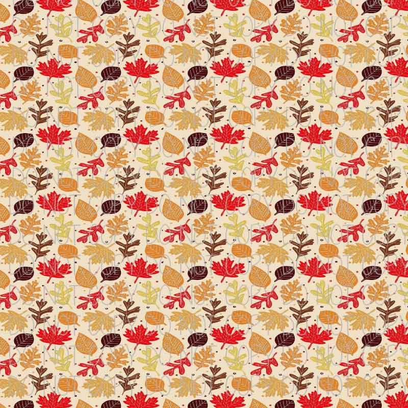 Autumn Leaves Patterned Adhesive Vinyl