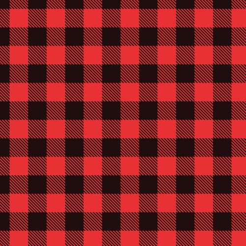 Red Buffalo Plaid Patterned Adhesive Vinyl