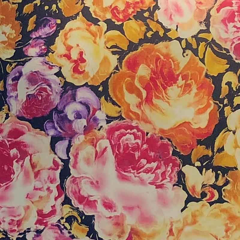 Flowers Patterned Heat Transfer Vinyl  (DecoFilm Soft Metallics)