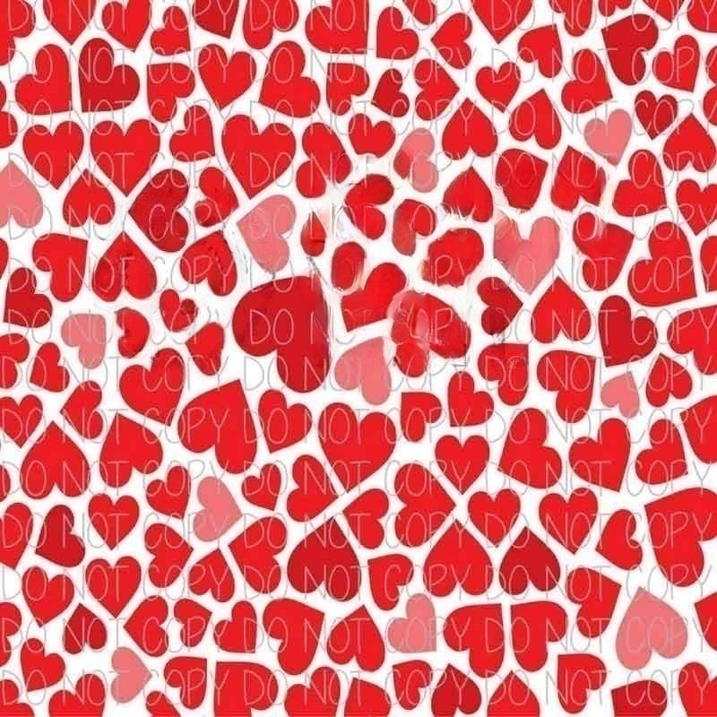 Hearts Patterned Adhesive Vinyl