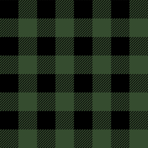 Hunter Green Buffalo Plaid Patterned HTV