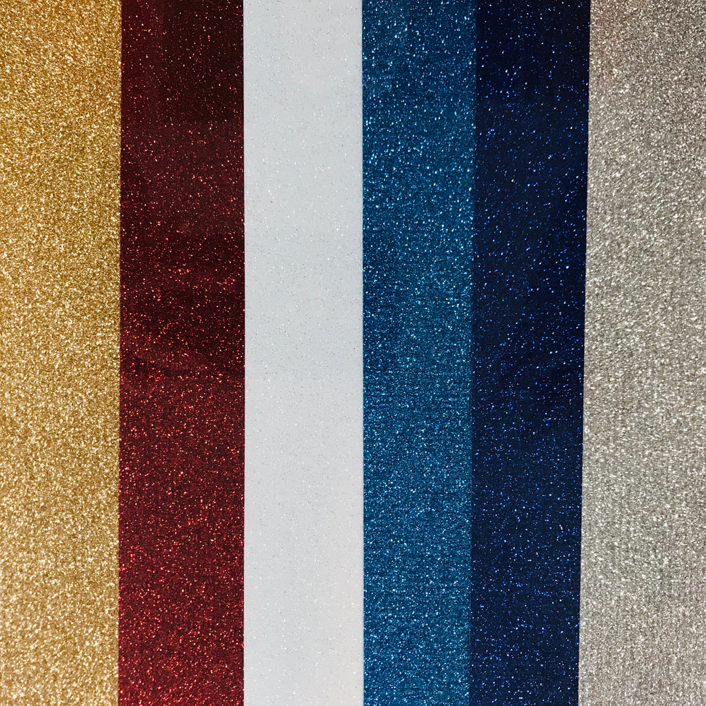 4th of July/Patriotic Colors Siser Glitter HTV Bundle