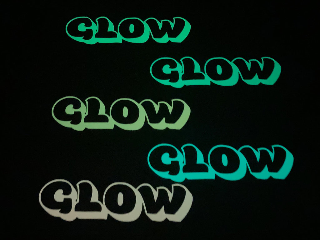 Neon Orange Glow In The Dark Heat Transfer Vinyl