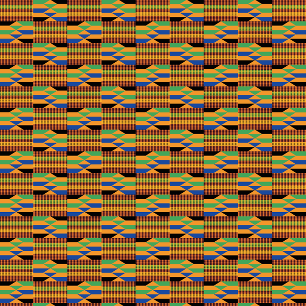 African Kente Cloth Patterned HTV