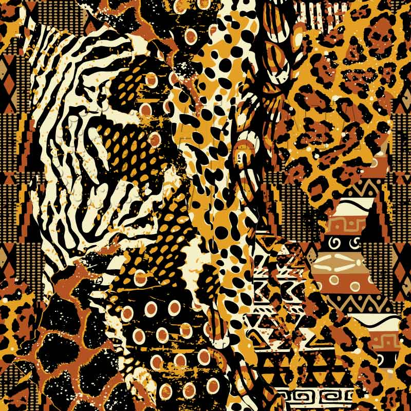 Kuumba - African Fabric & Animal Print Patchwork Patterned HTV