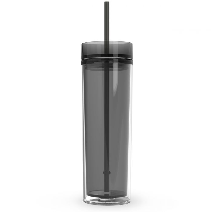 16 oz. Double Wall Skinny Tumblers | Graphite