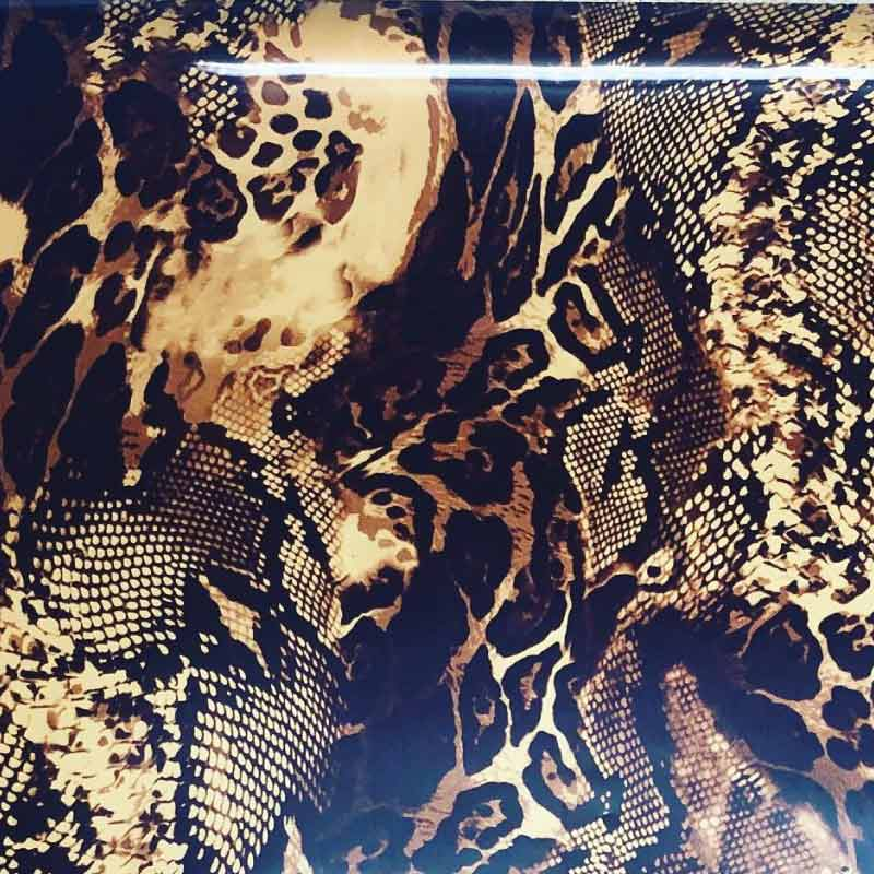 Snake (Snakeskin) Patterned Heat Transfer Vinyl  (DecoFilm Soft Metallics)