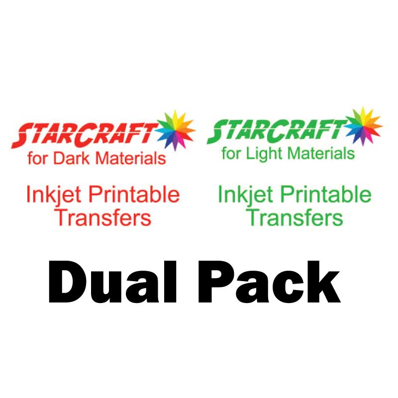 StarCraft Inkjet Printable Heat Transfers Light & Dark Materials 10-Pack