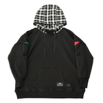 ROUGH HOODED FL BLK/WHT
