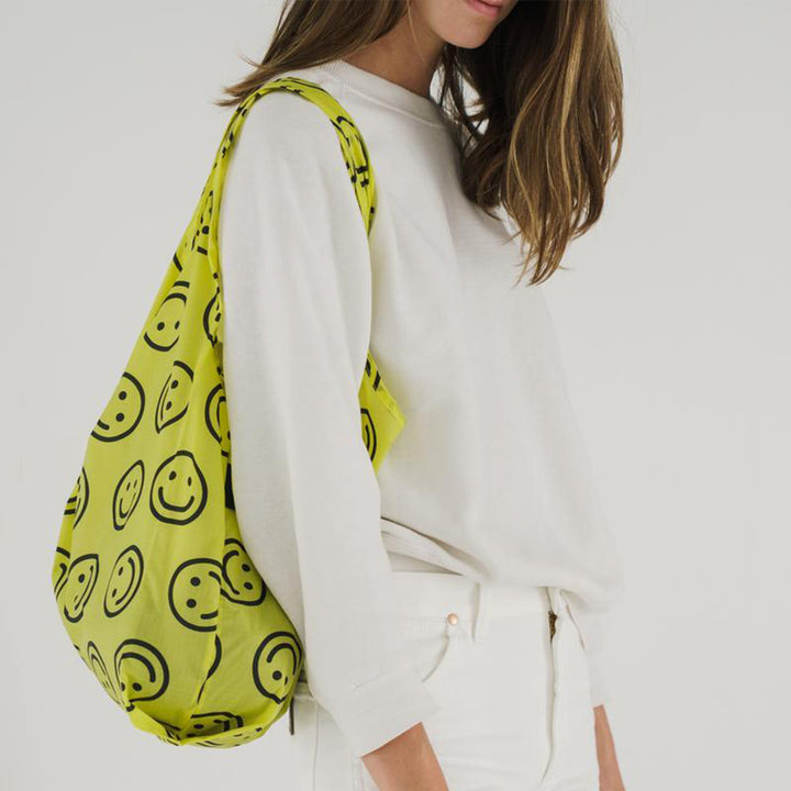 Baggu Standard Reusable Bag - Yellow Happy