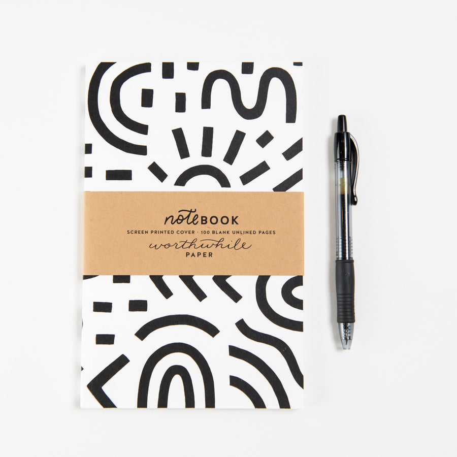 Curves and Lines Pattern Notebook