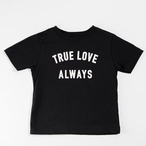 True Love Always Youth Black Shirt