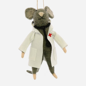 Doctor Mouse Ornament