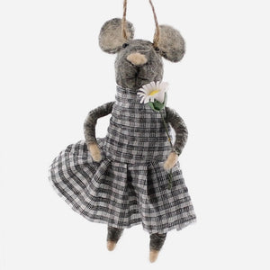 Girl Farmer Mouse Ornament