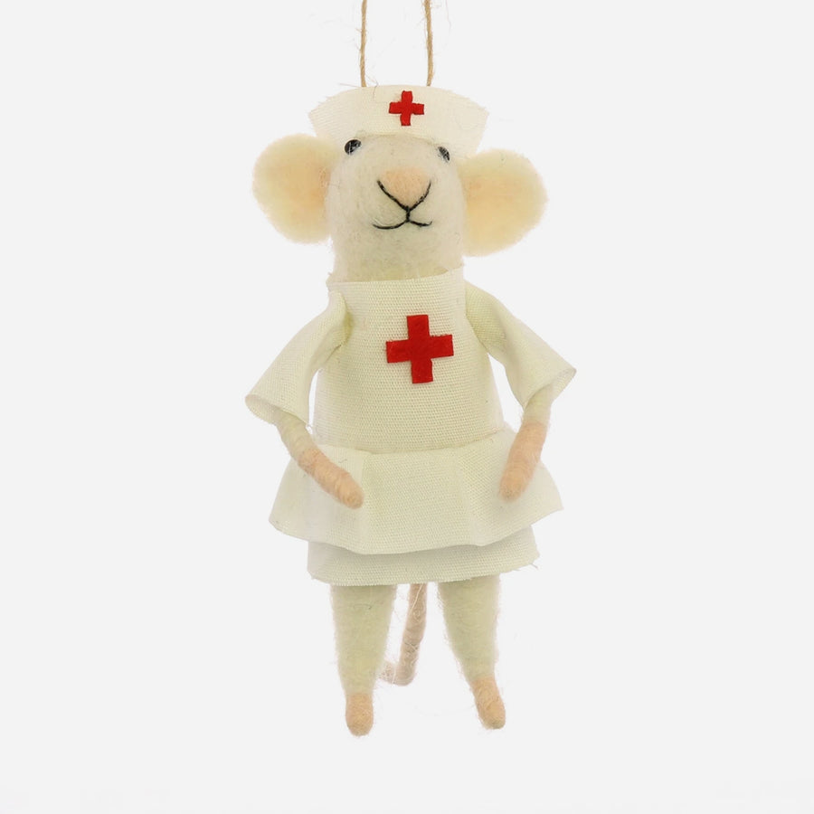 Nurse Mouse Ornament