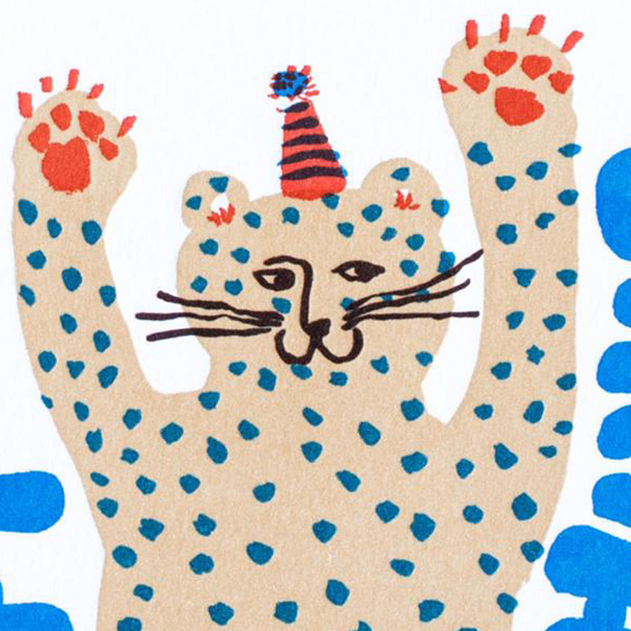 Party Cheetah Birthday Card