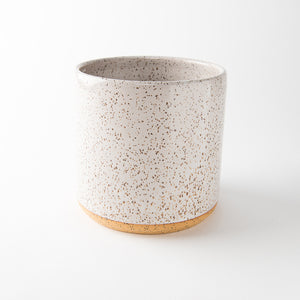 Speckle Planter, White