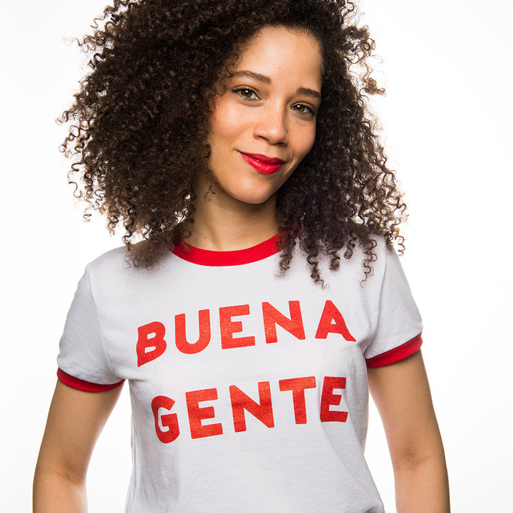 Buena Gente Ringer T-shirt (red)
