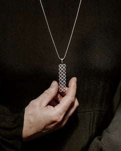 Organic Geometry Long Pendant