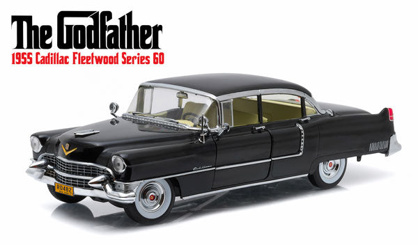 GreenLight's 1955 Black Cadillac Fleetwood 1:18 Scale (The God Father Edition)