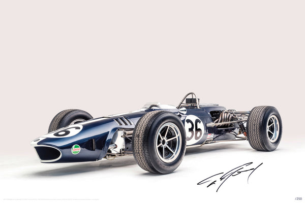 Petersen Limited Edition Print - Dan Gurney 1967 Eagle Gurney-Weslake #36 F1 (Second Edition)