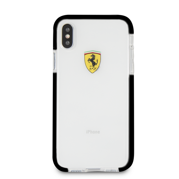 Ferrari Case for iPhone X - Shockproof - Transparent