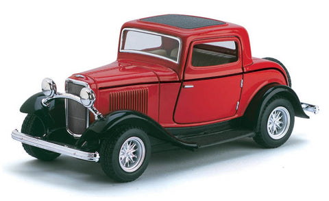 Kinsmart- 1932 Ford 3-Window Coupe - Loose 1:34 Diecast
