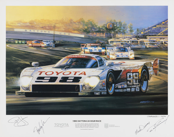 Hector Cademartori SIGNED Print - 1993 24 HR. of Daytona