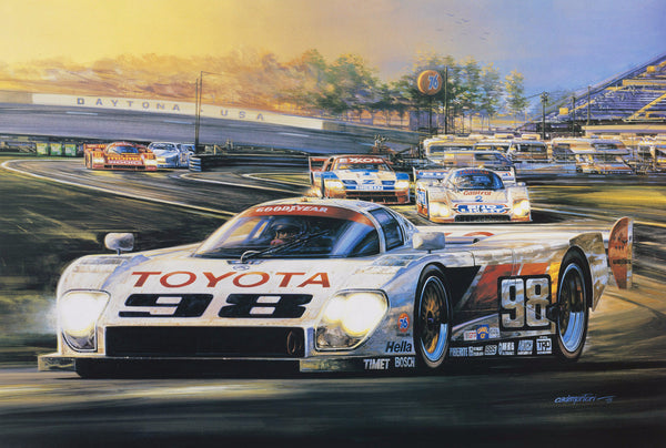 Hector Cademartori Print - 1993 24 HR. of Daytona