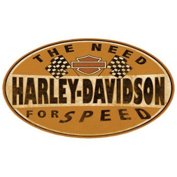 Harley-Davidson Need for Speed Oval Tin Sign