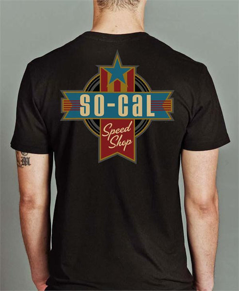 So-Cal's Retro Americana Black T-Shirt