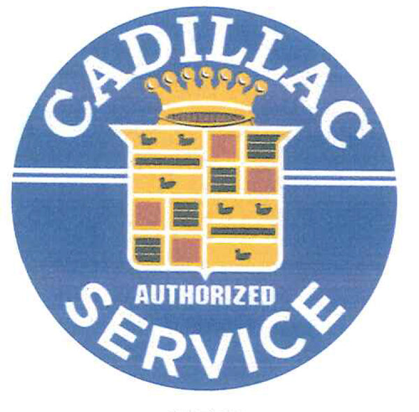 "Cadillac Service 12"" Tin Sign"