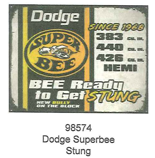 "Dodge Superbee Stung 12"" x 15"" Tin Sign"