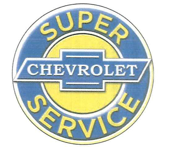 "Chevrolet Super Service 12"" Tin Sign"