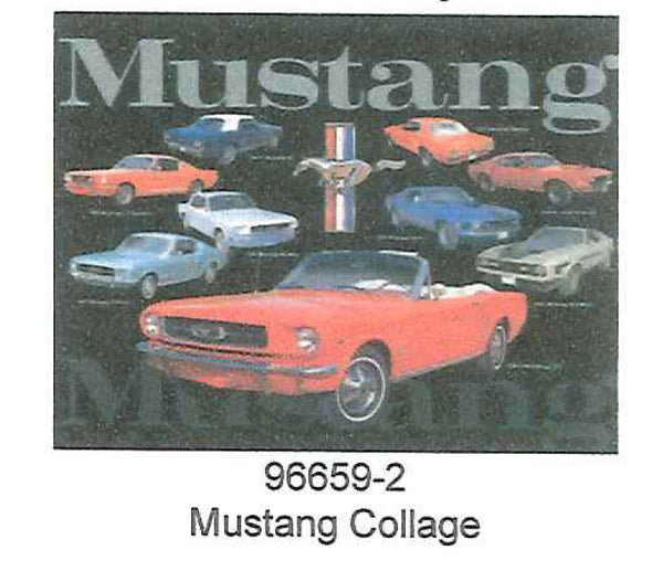 "Mustang Collage 12"" x 15"" Tin Sign"
