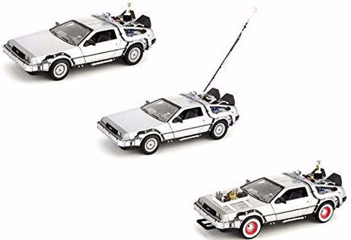 Back to The Future - DeLorean Time Machine 3 Pack