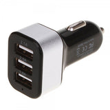 3-Port USB Car Charger Adapter