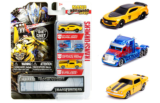 "Jada Metals - Nano Transformers Series 1 Die-Cast 3-Pack (1.65"")"