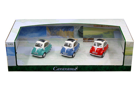 Cararama  3 Pack Set BMW Isetta 1:43 Scale