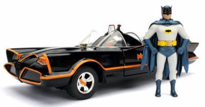 Batman Classic TV Series Batmobile w/ Figures