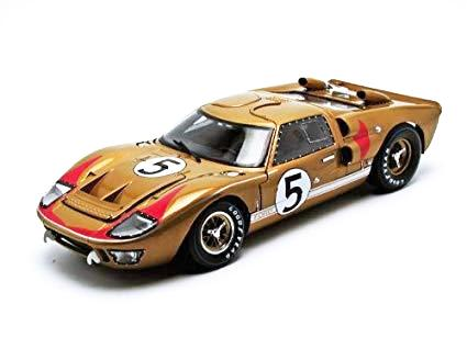 1966 Ford GT-40 MK 2 Gold #5 1:18 Scale