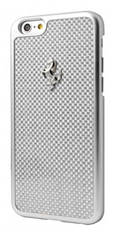 Ferrari GT Silver Frame White Carbon Fiber iPhone Case