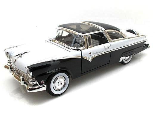 1955 Ford Crown Victoria Black and White
